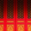 Red door in Chinese temple — Stock Photo