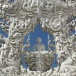White temple, Wat Rong Khun — Stock Photo