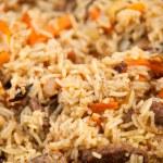 Pilaf (Plov) - Afghan, Uzbek, Tajik national cuisine main dish — Stock Photo #29546029