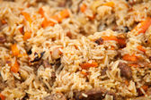 Pilaf (Plov) - Afghan, Uzbek, Tajik national cuisine main dish — Stock Photo