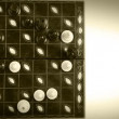 Chess Match Timelapse video old film effect — Stock Video