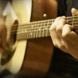 Acoustic Guitar Strings chord Training Practice — Stock Video