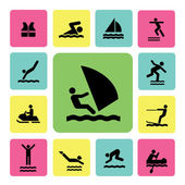 Water sport icon — Stock Vector