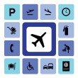 Airport icons — Stock Vector #29069141