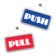 Pull and push — Stock Vector
