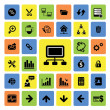 Business and web icons set — Stock Vector