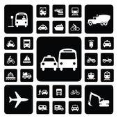 Icon traffic set — Stock Vector