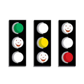 Vector traffic lights — Stock Vector