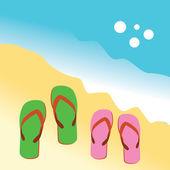 Sandals — Stock vektor