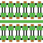 Seamless robot pattern for background — 图库矢量图片
