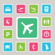 Airport icons — Stock Vector #29211699