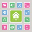Web hosting icons — Stock Vector