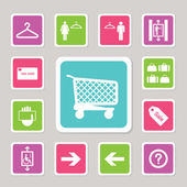 Shopping mall icons set 2 — Stock Vector
