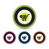 Button icon set — Stock Vector