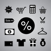 Shopping symbol — Stock Vector