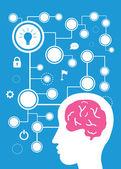 Brain vector cartoon — Stock Vector