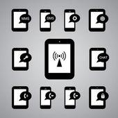 Technology symbol — Stock Vector