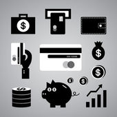 Finance and money symbol — Stock Vector