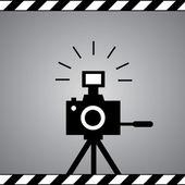 Black camera — Stock Vector