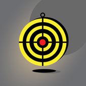Darts target — Stock Vector