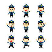 Policeman emotions — Stock Vector