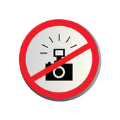 No photography allowed — Vettoriale Stock
