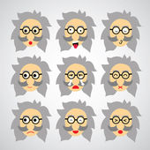 Face emotion — Stock Vector