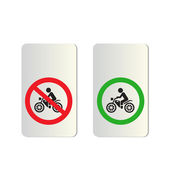 Motorcycle Signs — Stock Vector