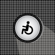 Stock Vector: Disabled symbol