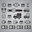 Clocks icons — Vector de stock #35782417