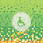 Simbolo disabile — Vettoriale Stock
