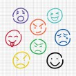 Stock Vector: Emotion sketch