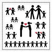 Familjen symbol — Stockvektor