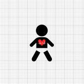 赤ちゃんの心拍数 — ストックベクタ