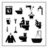 Washing set symbol — Stock Vector