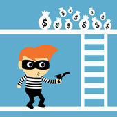 Steal vector cartoon — Stock Vector