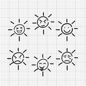 Emotion sketch — Stock Vector