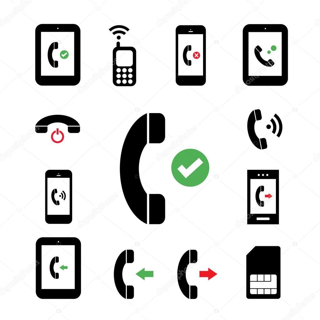 Simbolo Telefone Símbolo de Telefone em Fundo