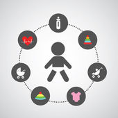 Baby symbol set — Stockvector