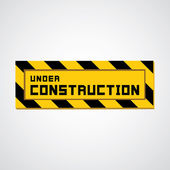 Sign under construction — Stock Vector