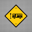 Bus sign — Stock Vector