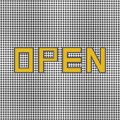 Open sign retro — Stockvektor