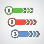 Modern number step — Stock Vector