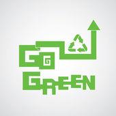 Strzałki przejść zielony — Wektor stockowy