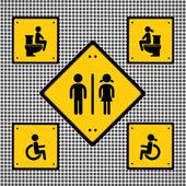Toilet sign — Stock Vector