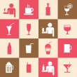 Beverages icons set — Stock Vector #40388751