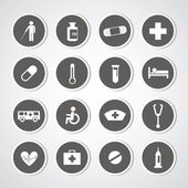 Hospital icons set — Vetorial Stock