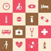 Hospital icons set — Stockvector