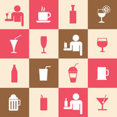 Beverages icons set — Stock Vector