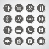 Shopping mall icons — Stock Vector